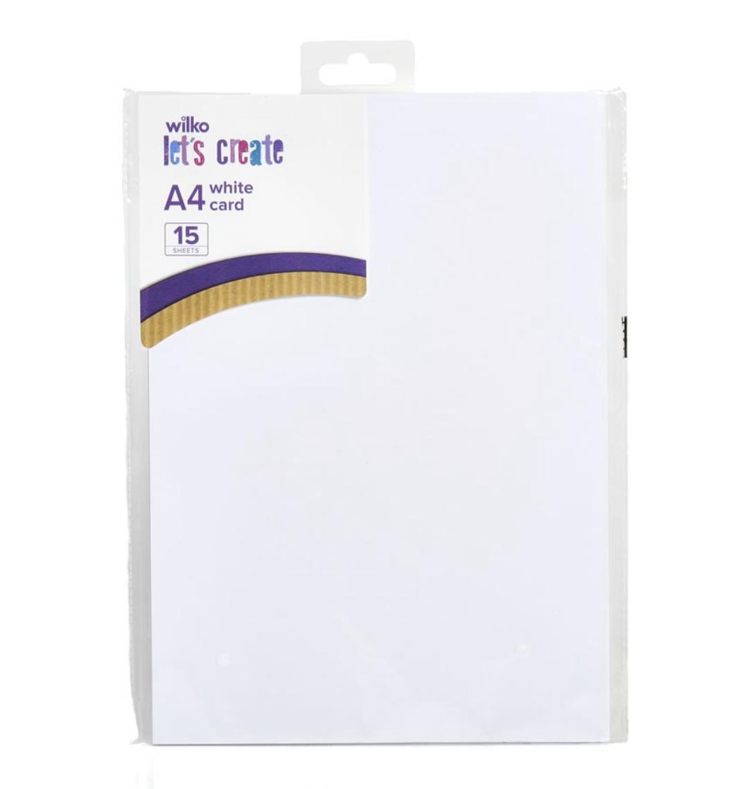 Wilko card paper 220 gsm