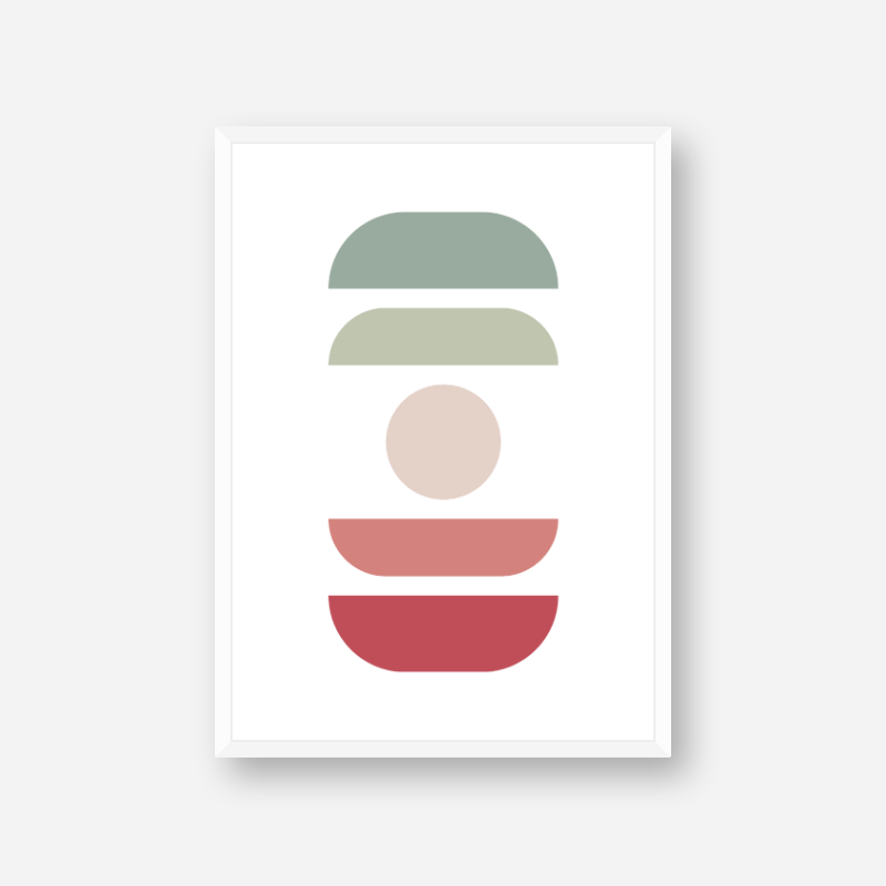 Red light red green and light green abstract colour swatch style minimalist free downloadable printable wall art, digital print