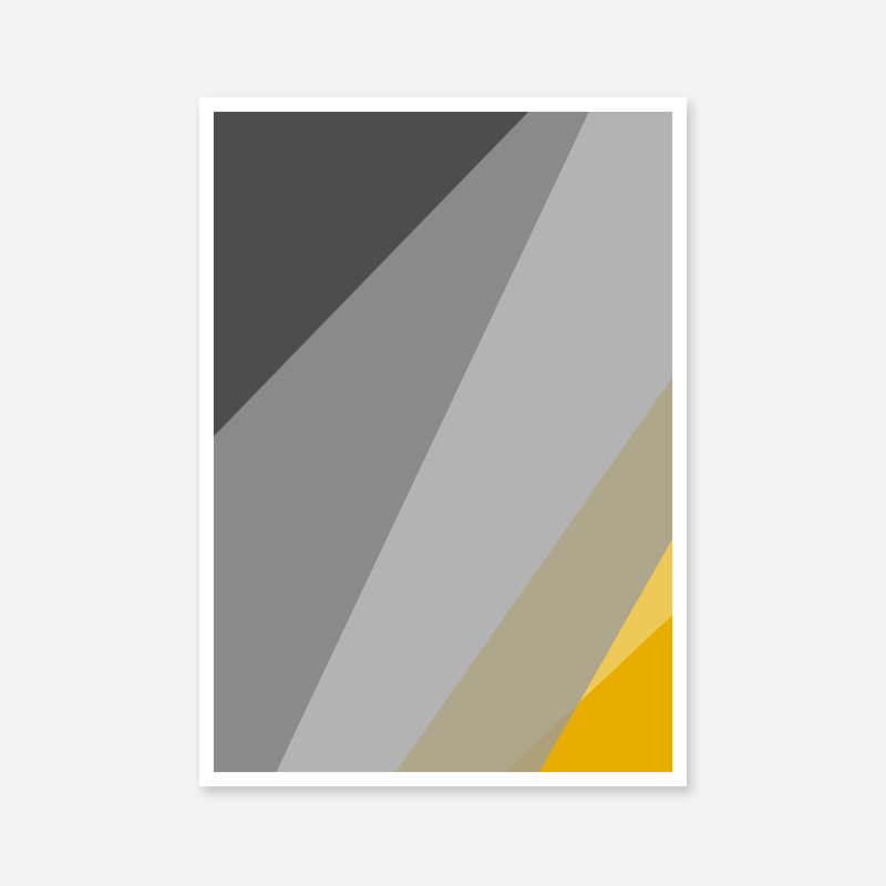 Grey brown and yellow abstract triangle polygon minimalist free downloadable wall art