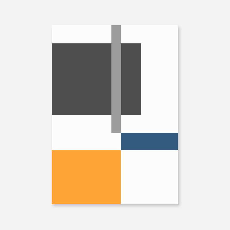 Orange grey and blue rectangles geometric minimalist free downloadable printable wall art