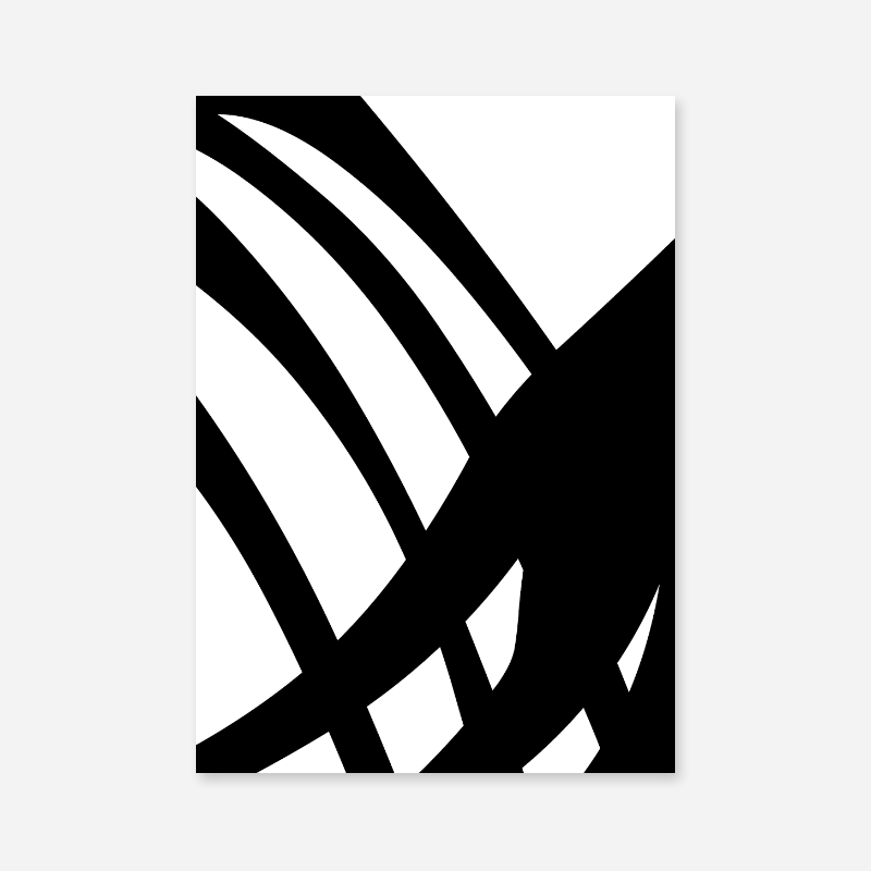 Black abstract shapes minimalist free downloadable printable wall art
