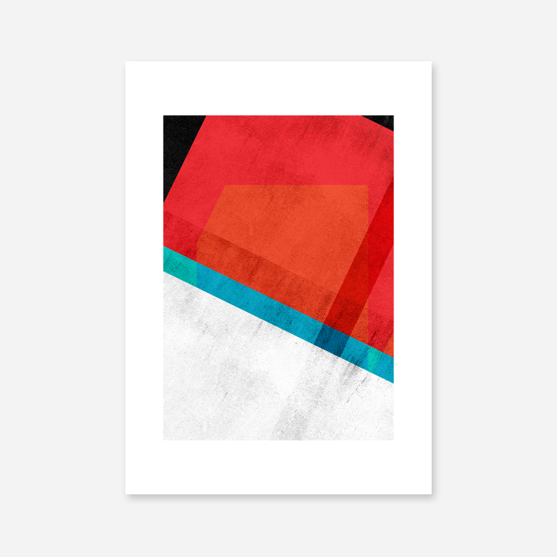 Red teal green blue and black abstract rectangle triangle grunge concrete effect free printable design