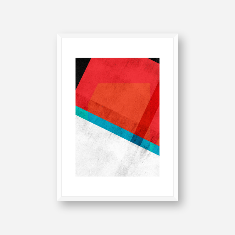 Red teal green blue and black abstract rectangle triangle grunge concrete effect free printable design, digital print
