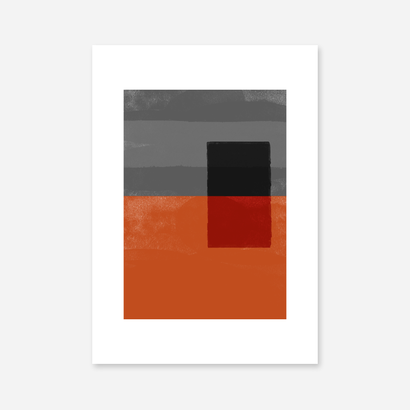 Red and grey abstract watercolour free minimalist downloadable printable wall art design, digital print