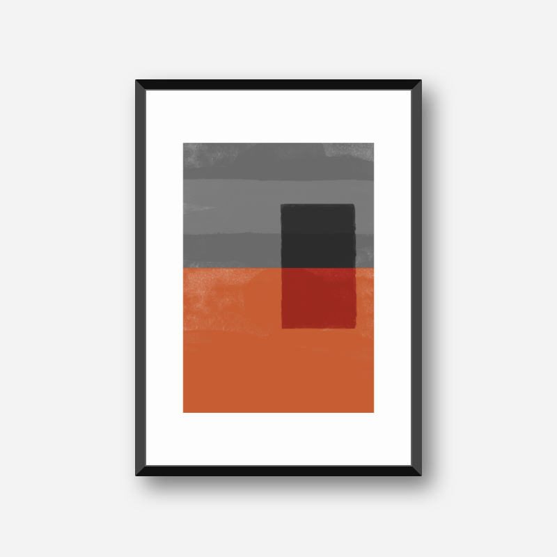 Red and grey abstract watercolour free minimalist downloadable printable wall art design