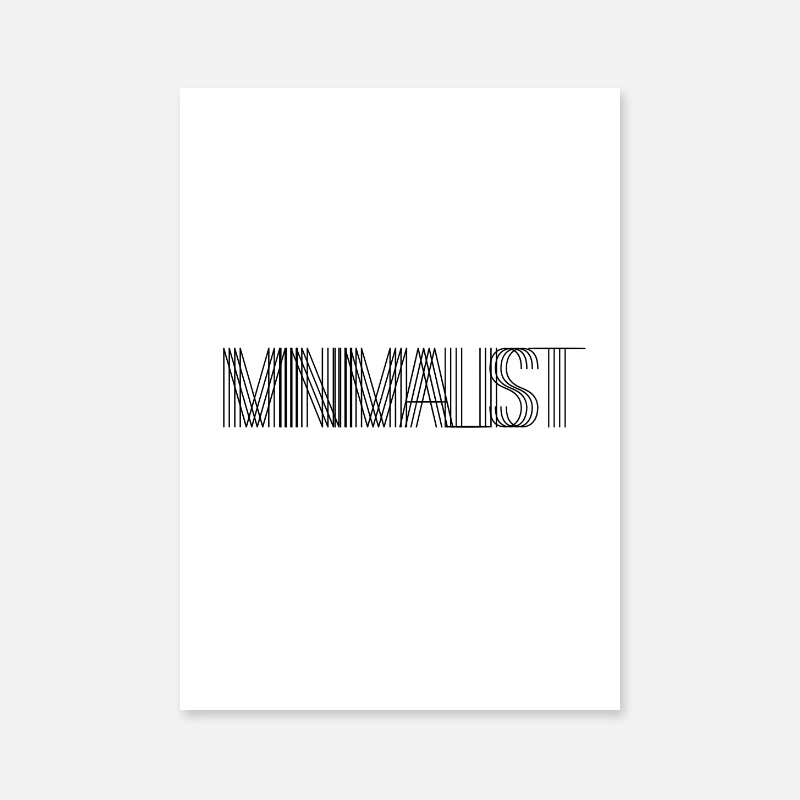 Minimalist typography black text downloadable free scalable wall art design