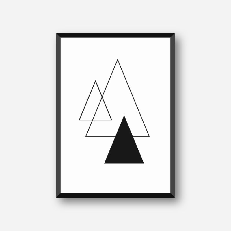 Black triangles scalable minimalist downloadable free wall art design