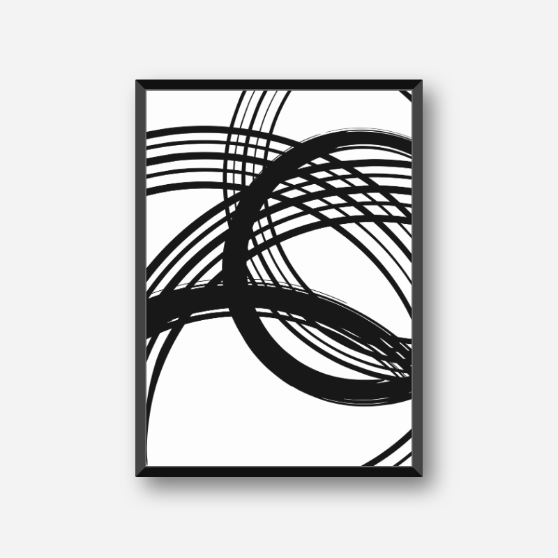 Black and white abstract circles and lines minimalist set of three free downloadable wall art design
