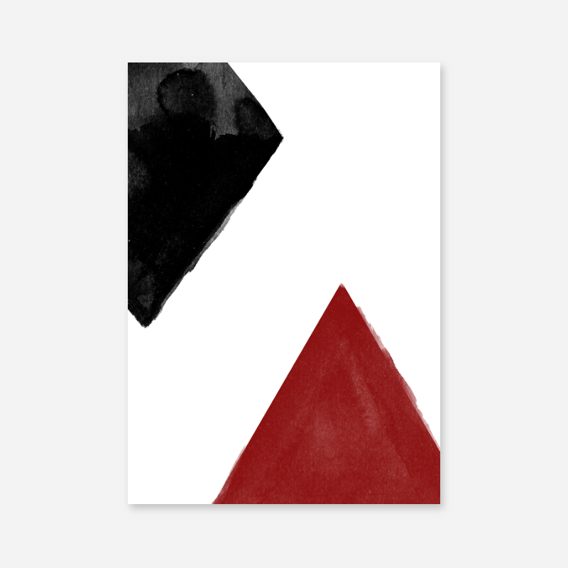 Black and red watercolour abstract downloadable wall art