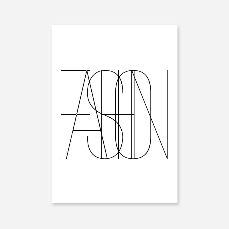 Fashion minimalist typography downloadable wall art design, digital print