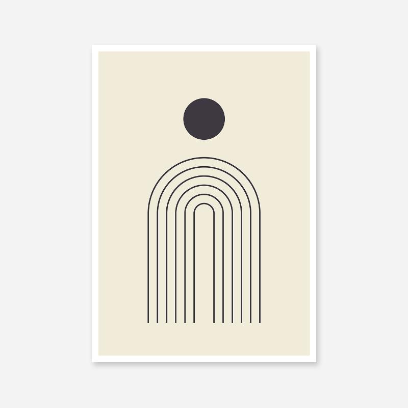 Fontain circle abstract minimalist wall art design part of a set of three free digital prints