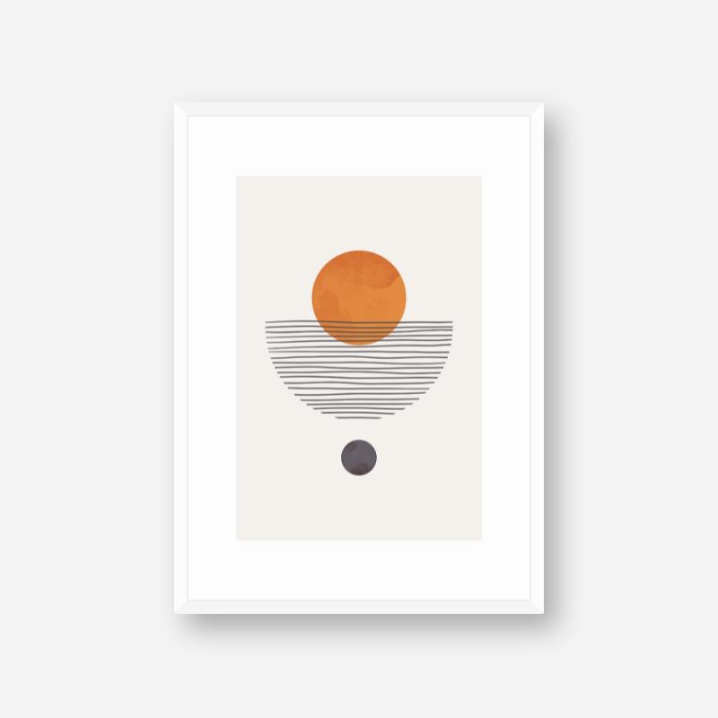 Orange pearl like modern abstract minimalist wall art design free downloadable digital print