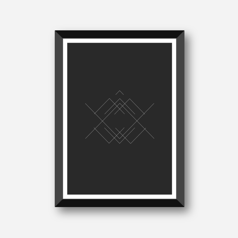 Black and grey crossing lines abstract geometric minimalist printable wall art