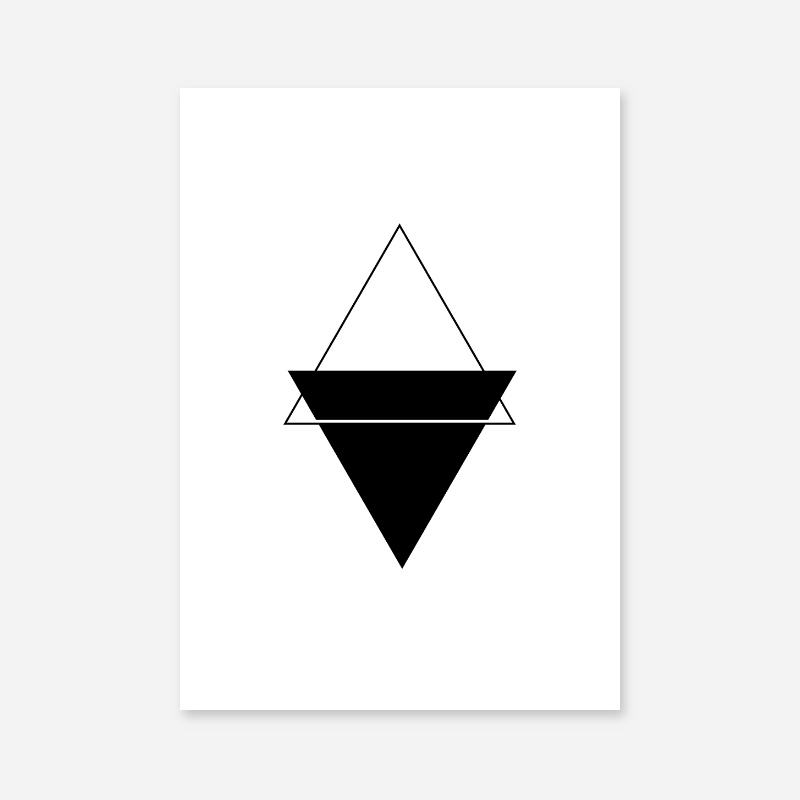 Black triangles minimalist Scandinavian nordic style downloadable printable wall art