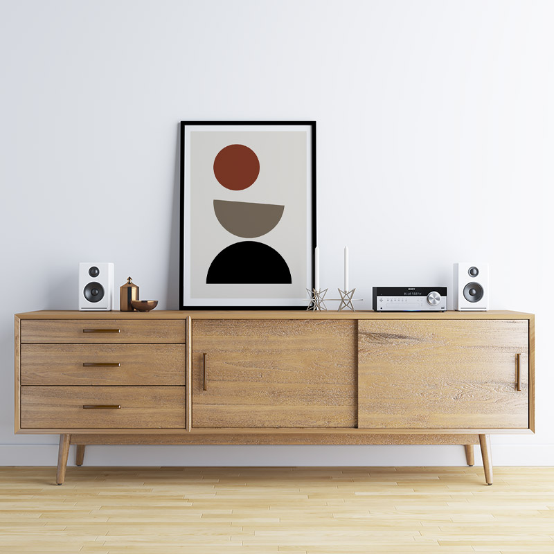 Minimalist geometric shapes Scandinavian Nordic style downloadable wall art, digital print