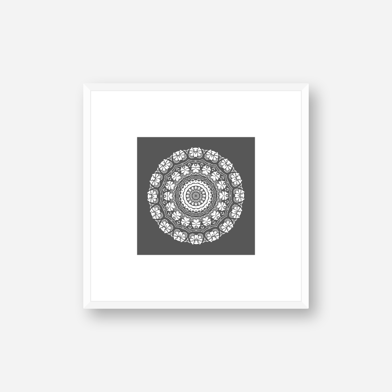 Abstract floral pattern with grey background minimalist downloadable printable wall art, digital print