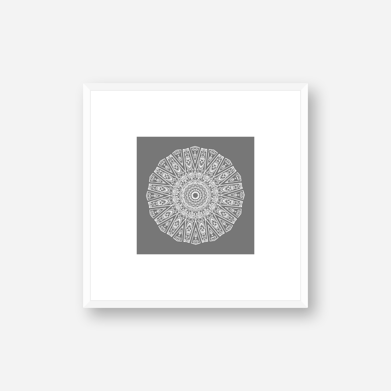 Abstract circle pattern with grey background minimalist printable wall art, digital print