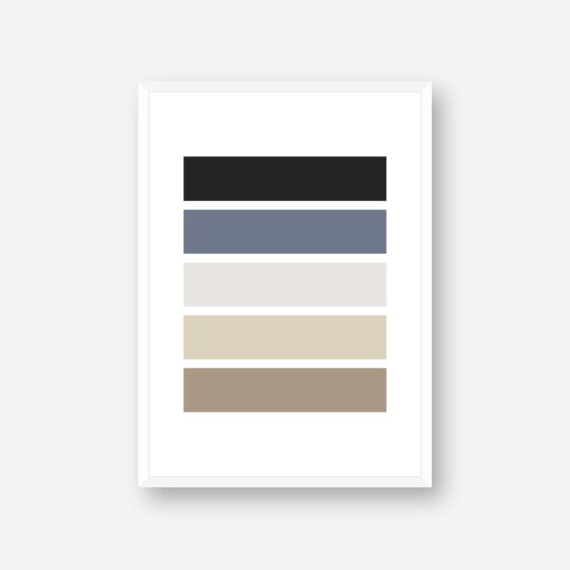 Black blue and brown rectangles geometric Nordic Scandinavian style minimalist free printable wall art