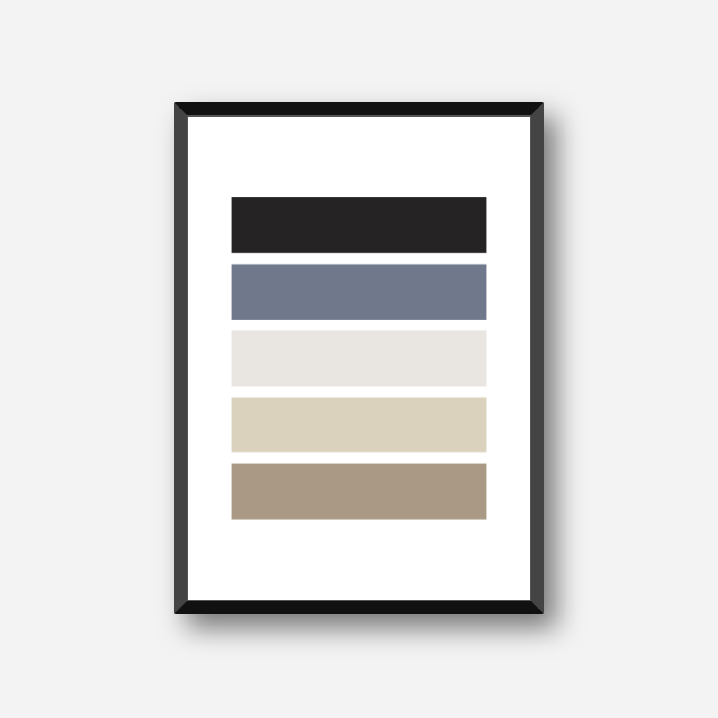Black blue and brown rectangles geometric Nordic Scandinavian style minimalist free printable wall art, digital print