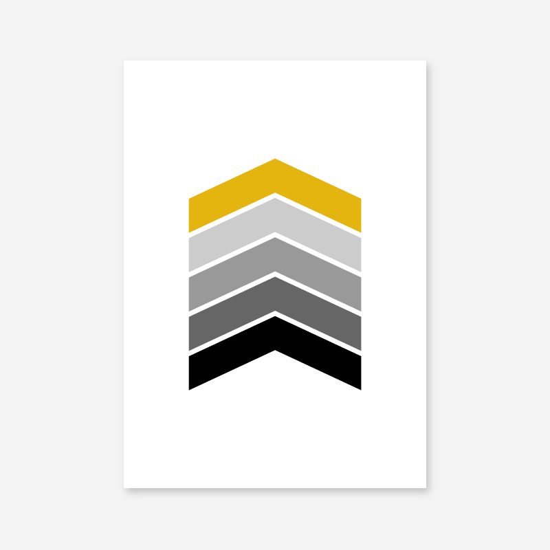 Black grey and yellow chevrons geometric Nordic Scandinavian style minimalist free printable wall art