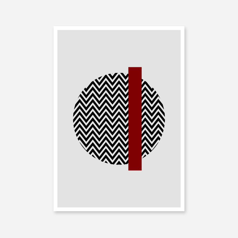 Black wave circle and dark red rectangle with grey background abstract minimalist free downloadable printable wall art, digital print