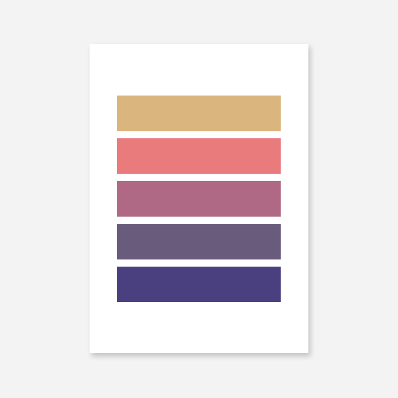 Brown purple pink and blue rectangles colour swatch style minimalist free downloadable printable wall art