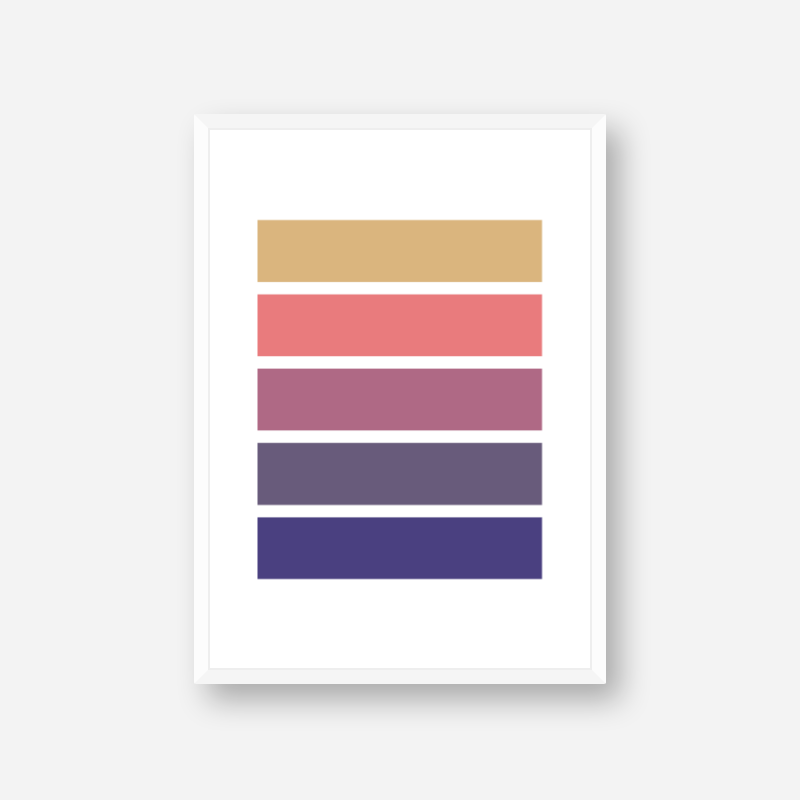 Brown purple pink and blue rectangles colour swatch style minimalist free downloadable printable wall art, digital print