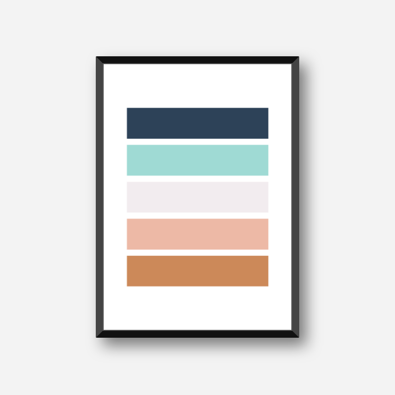Brown light brown turquoise and black rectangles colour swatch minimalist free downloadable printable wall art, digital print