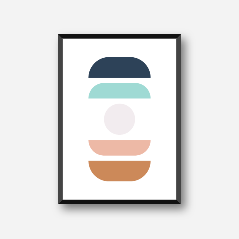 Brown light brown turquoise and black abstract colour swatch minimalist free downloadable printable wall art, digital print